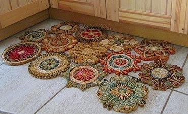 Tapete artesanal - modo de fazer