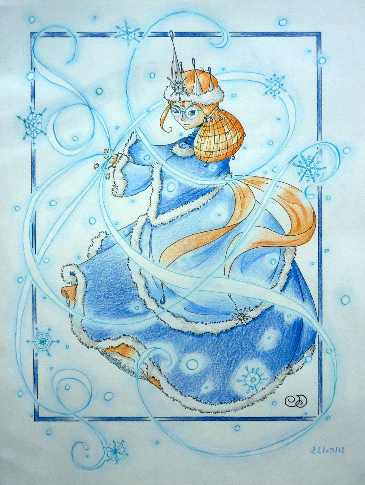 Saphi et ses crayons princesse des neiges chevelure de - Princesse des neiges ...