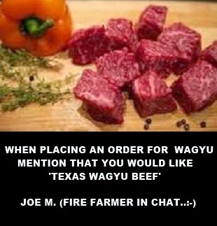 WAGYU BEEF - TEXAS - CLICK ON IMAGE TO ORDER