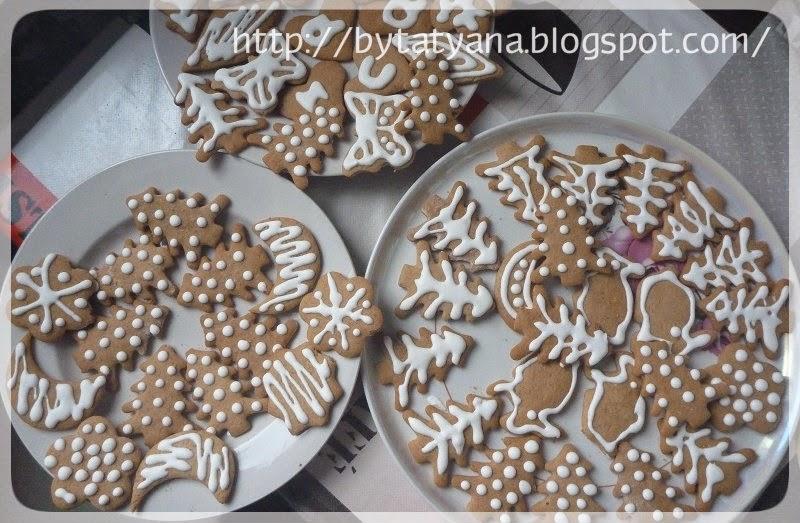 имбирное печенье, айсинг