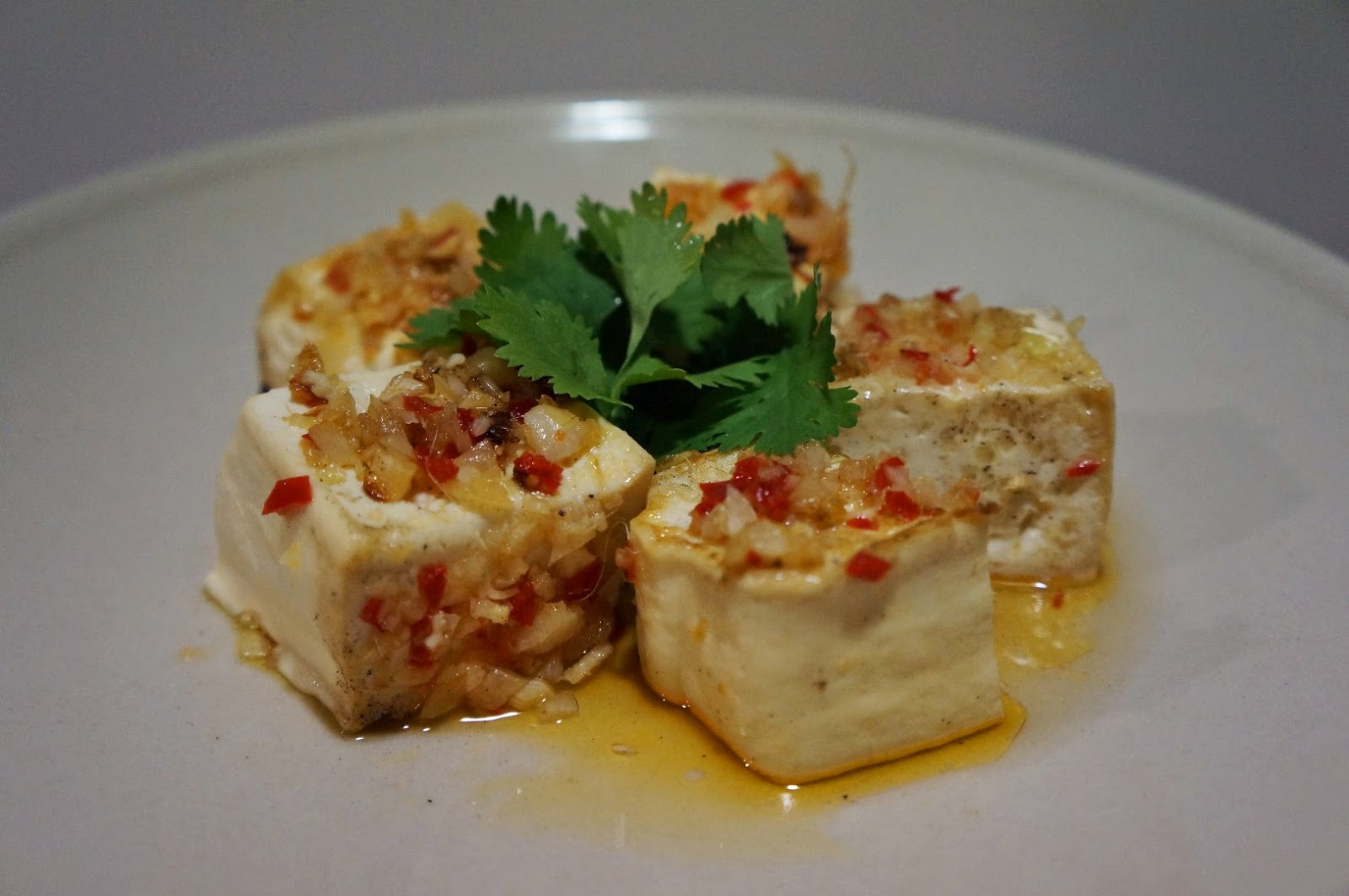 Vietnamese Crisp Silken Tofu Crusted in Lemongrass (Dau Hu Xa Ot)
