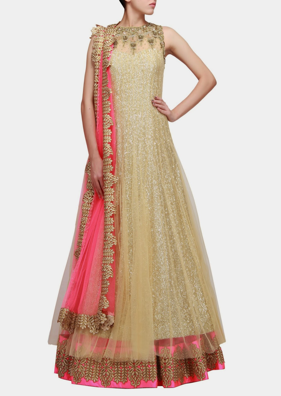 albarino net: Buy Indowestern Gowns -KalkiFashion Sabyasachi Anarkali 2014