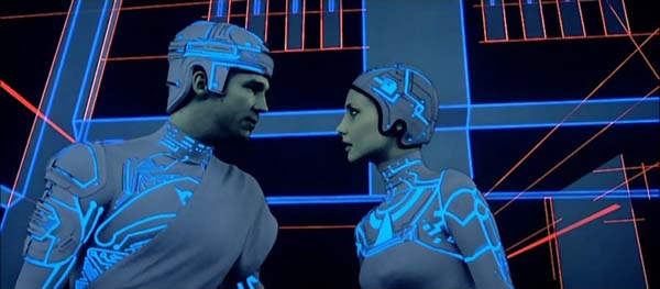Jeff Bridges and girl in TRON
