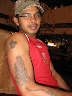 Indian Fast Bowler Sreesanth Arm Tattoo Design