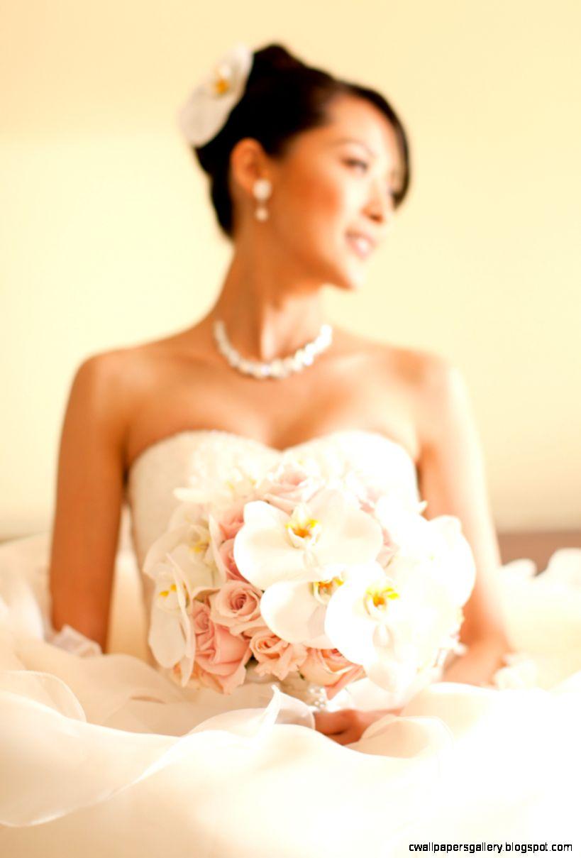 Gorgeous White Orchid Blush Roses Bridal Bouquet