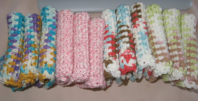 Crocheted Cotton Dishcloths
