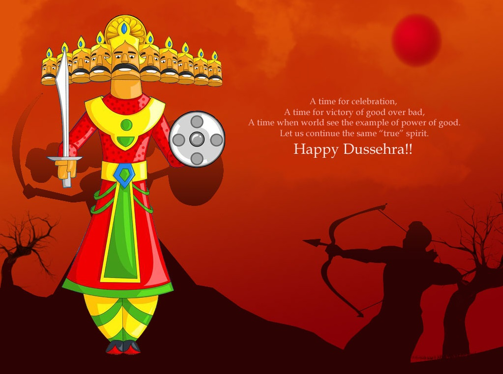 Happy Dussehra Desktop wallpaper ram and rawan
