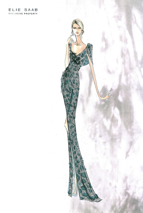fashion amp couture elie saab sketches