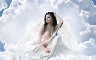 the-cloud-angel-fantasy-wallpaper