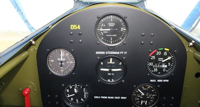 A l'intérieur du cockpit