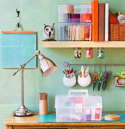 Bubby and bean living creatively creative kickstart - Art desk with storage organization ...