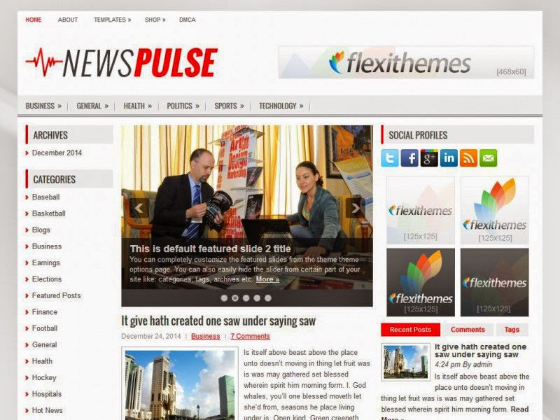 NewsPulse - Free Wordpress Theme