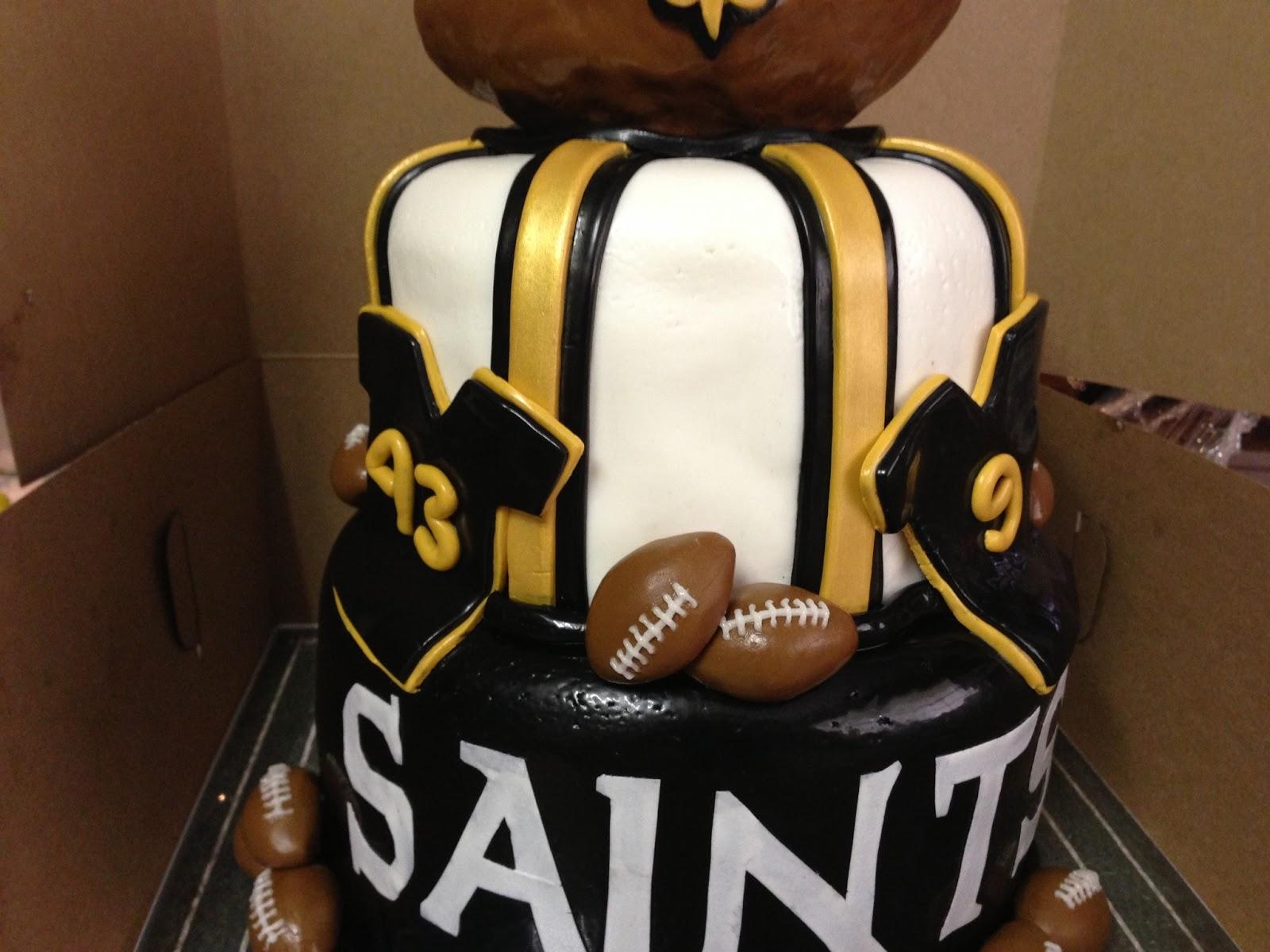New Orleans Saints Cake 6 8