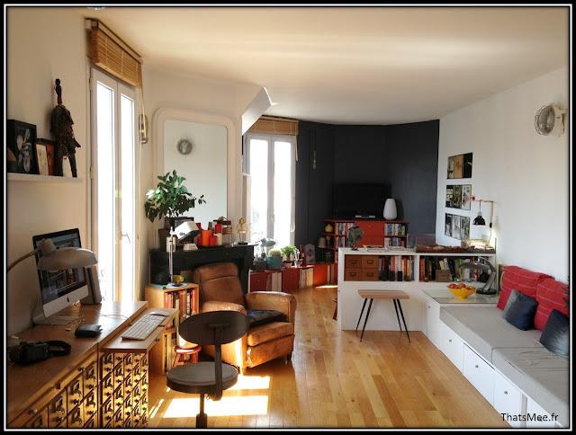 déco style loft 40m² meuble métier tiroir table Etsy 70s fauteuil club brocante