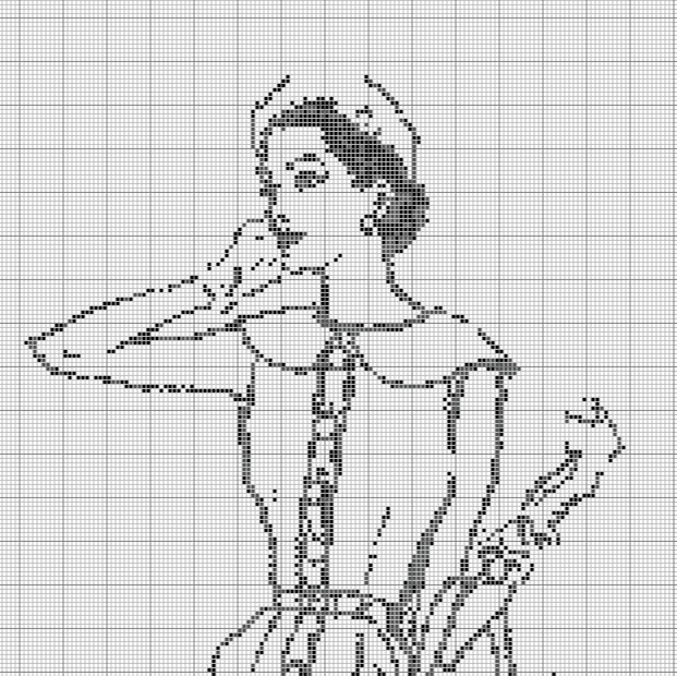 free cross stitch fashionista sketch