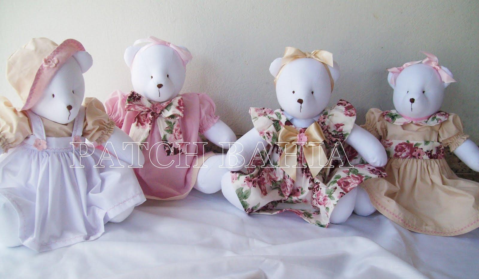 Quarto Para Bebe Urso Soninho Rosa ~ Ursinhas para quarto de Beb?, rosa e bege  Patch Bahia