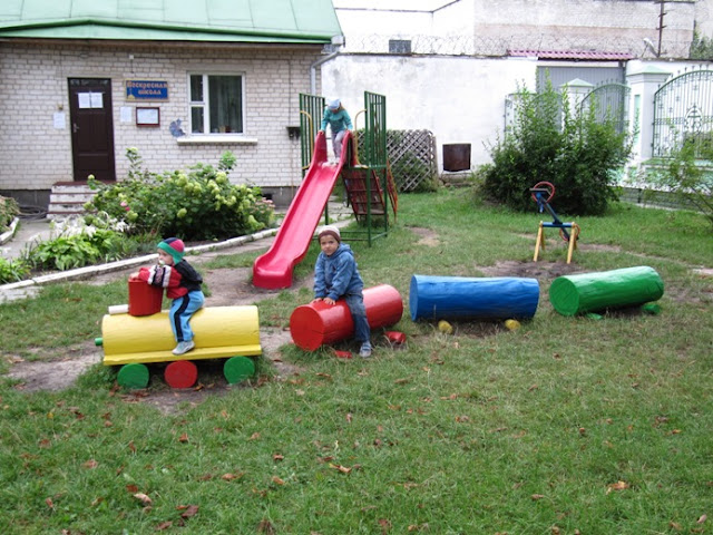 Как сделать детскую площадку в детском саду своими руками