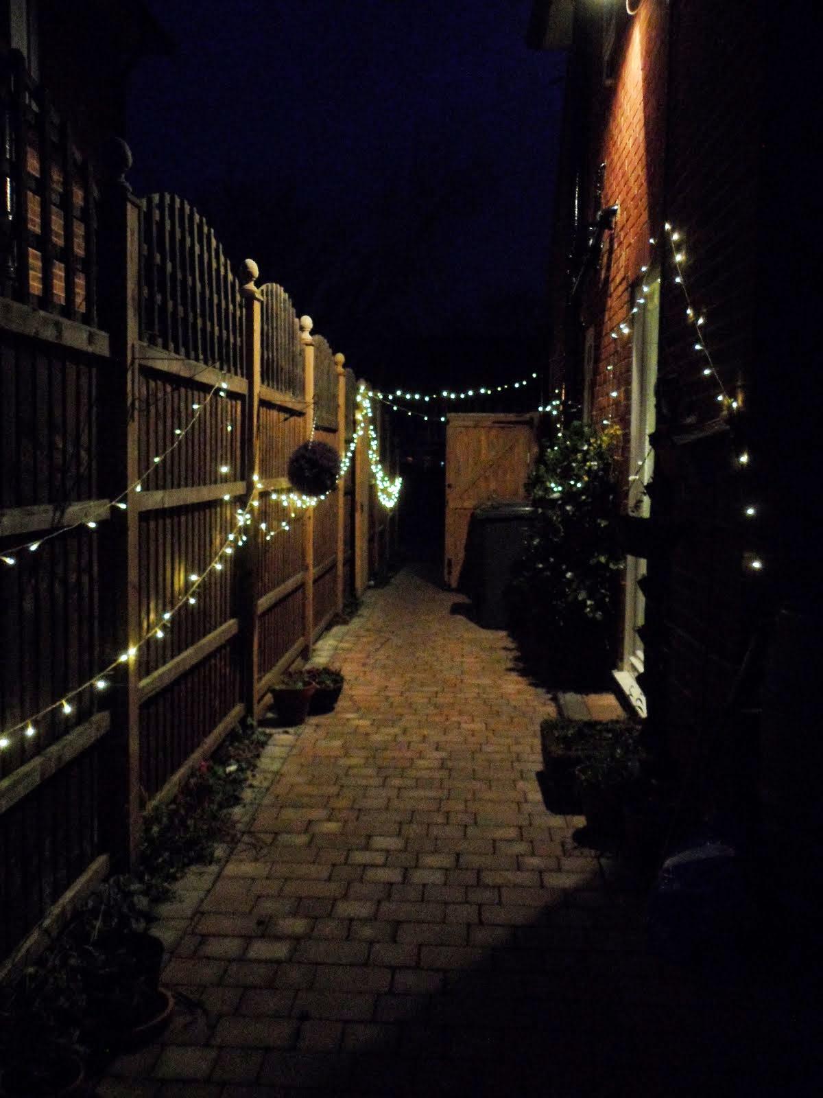 Fairy light path to studio