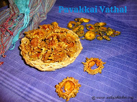 images for Pavakkai Vathal / Bitter Gourd Vathal / Sun Dried Bitter Gourd