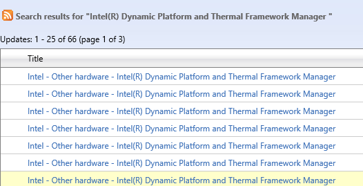 intel dynamic platform and thermal framework driver download