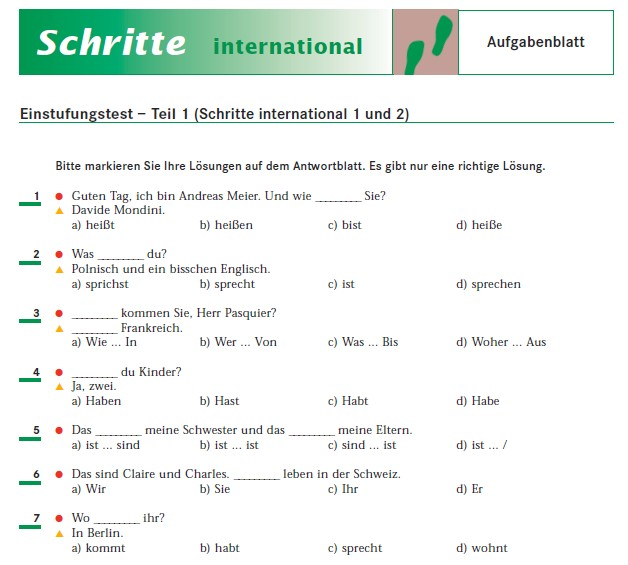Schritte international