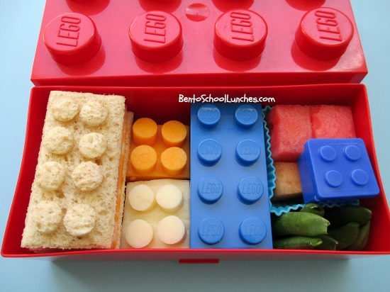 bento school lunches bento lunch lego lunch in a lego box. Black Bedroom Furniture Sets. Home Design Ideas
