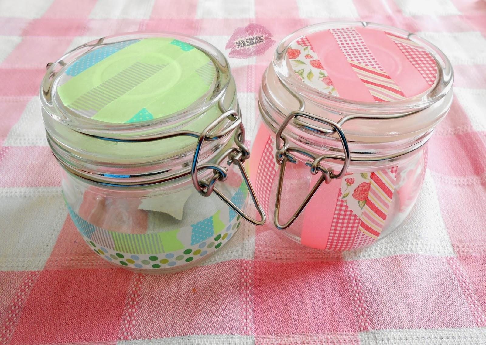 Pulsikiss decorar tarros con washi tape - Decorar con washi tape ...