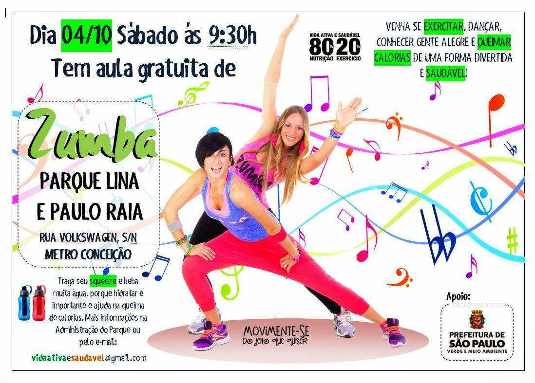 Fit Camp aula gratuita Zumba Parque LIna Paulo Raia Vida Saudavel Herbalife