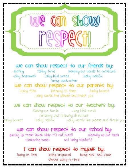 We can show respect! | Elementary Organization