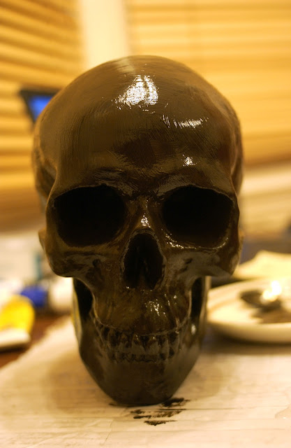 skull, mummy's head, How to, Theatre, prop, propping