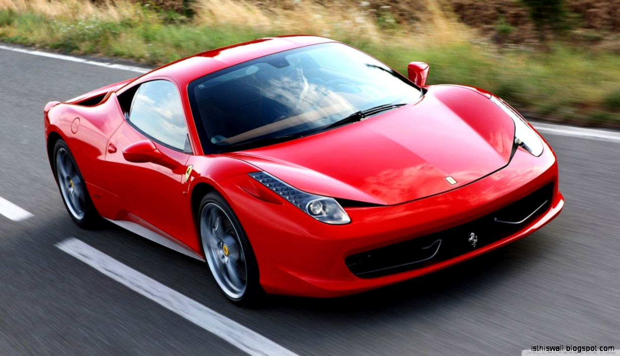Red Ferrari 458 Italia HD desktop wallpaper  Widescreen  High