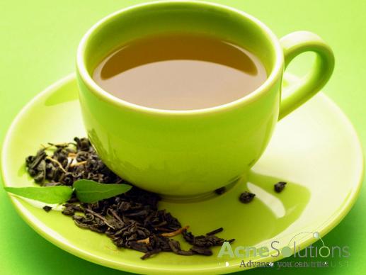 Cách trị mụn bọc từ trà xanh