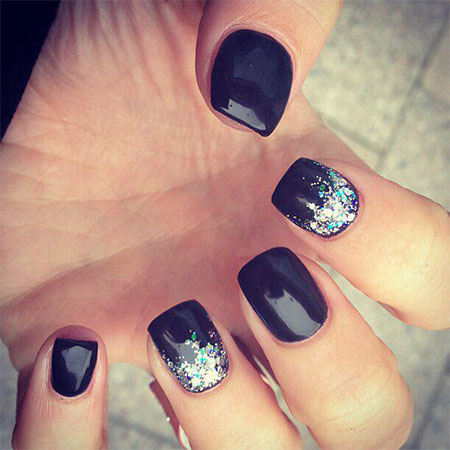 Black Acrylic Nail Designs Trends 2015 - 2016 9