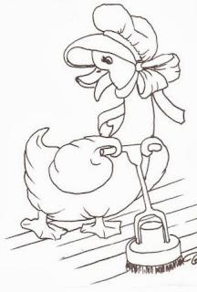 desenho semaninha da dona pata - sabado