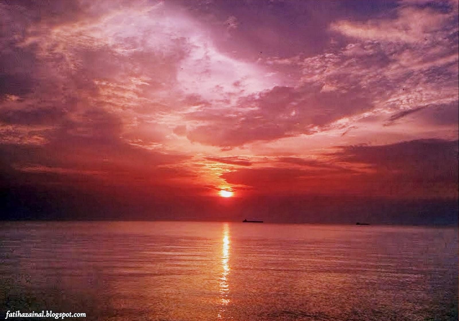 sunset , pantai pengkalan balak , fatiha zainal