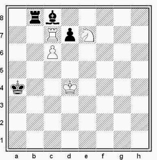 Estudio artístico de ajedrez compuesto por H. M. Kasparian (Sovietskaia, 1960)