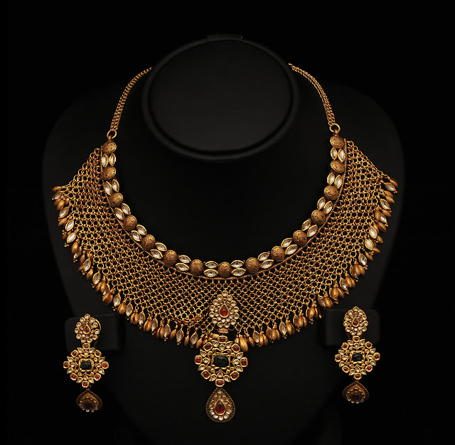 Indiangoldesigns Com Beautiful Antique Bridal Necklace