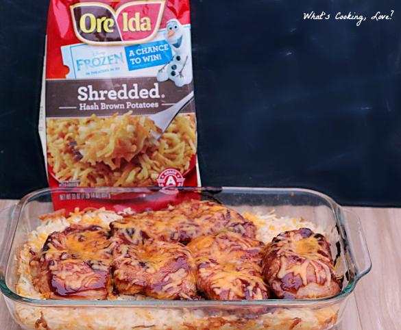 Chicken hash brown bake recipe