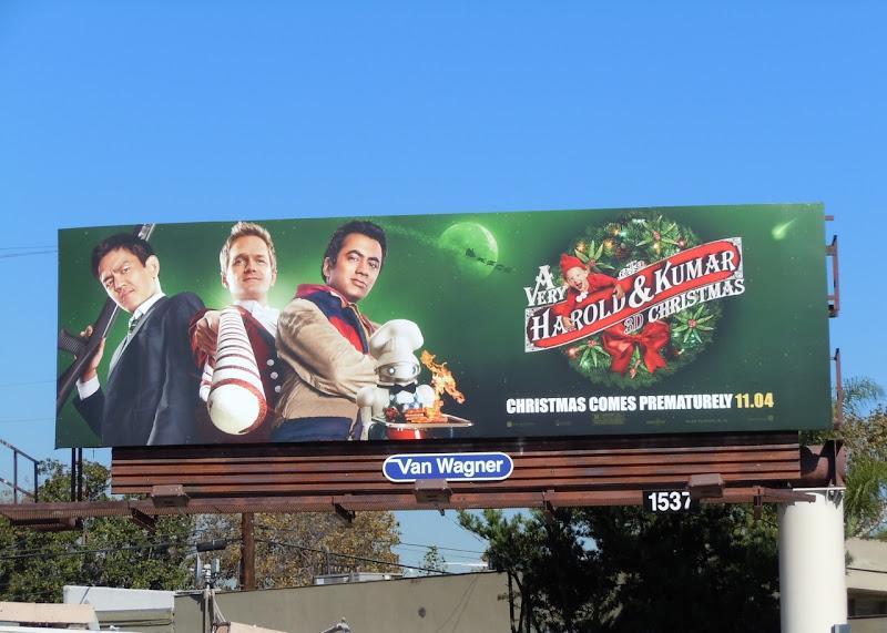 Harold & Kumar 3D Christmas billboard