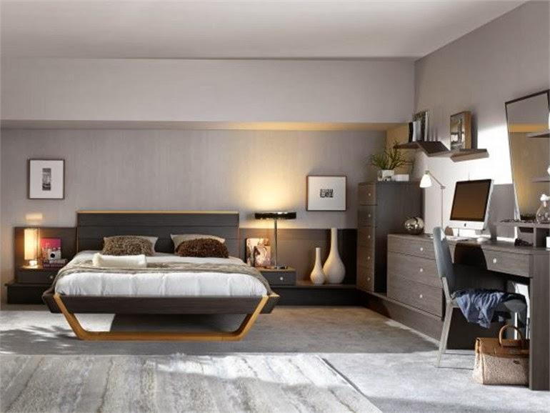 Quarto de casal em tons de cinza decora o e ideias casa e jardim - Tendance chambre adulte ...