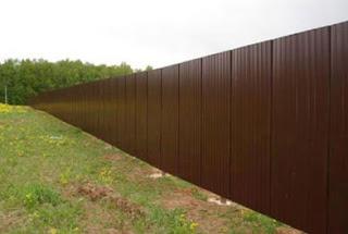 Забор из профлиста. Фото 6