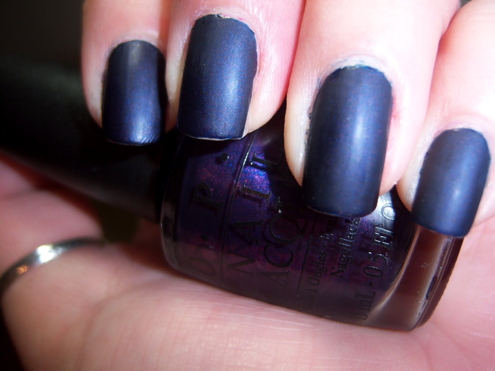 OPI Russian Navy & Essie Matte About You   Ashley Malice\'s Wonderland