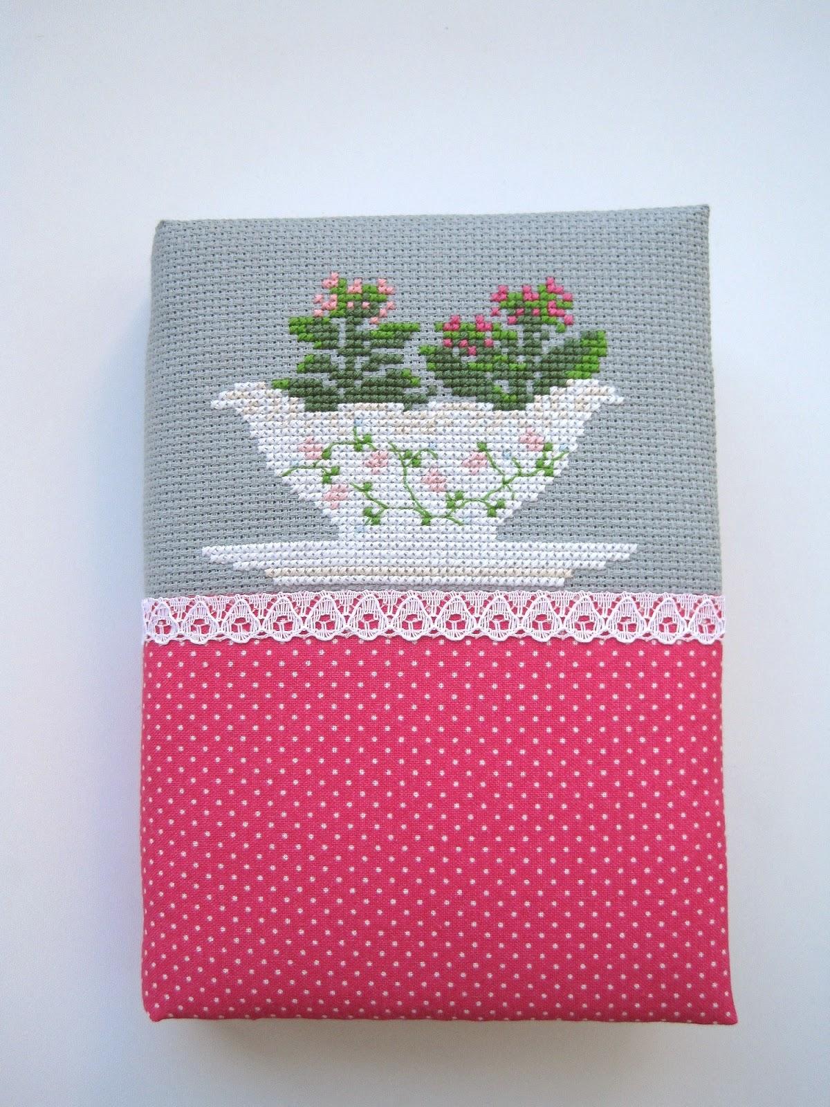 cross stitch hand made notebook вышивка крестиком блокнот ручной работы с нуля каланхоэ Kalanchoe Kissy-Cross
