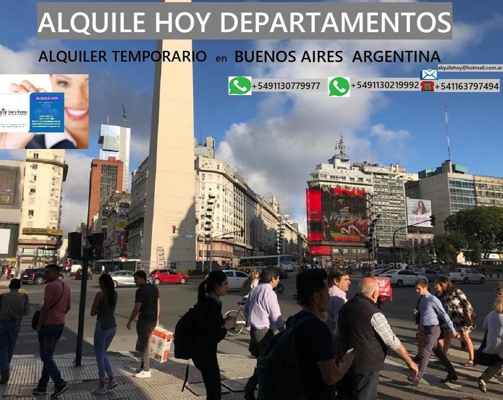 ALQUILER APARTAMENTOS AMUEBLADOS Y EQUIPADOS  TEMPORARIOS POR DIA SEMANA  MES/ES EN TODAS LAS ZONAS