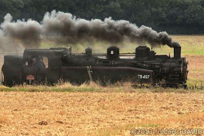 train vapeur campagne circulation vintage locomotive 141 TB 407 AJECTA Chatenay-sur-Seine Seine-et-Marne