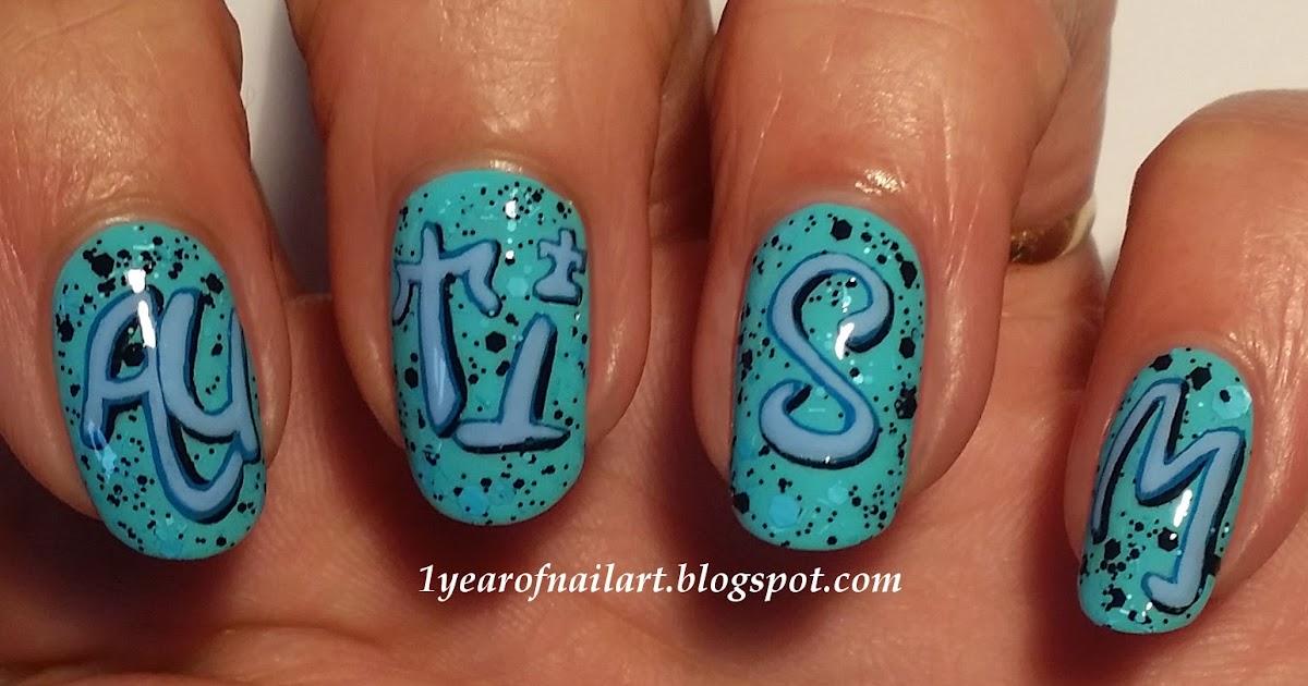 365+ days of nail art: Street style Autism nails (graffiti)