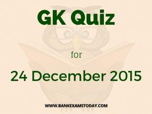 General Awareness Quiz