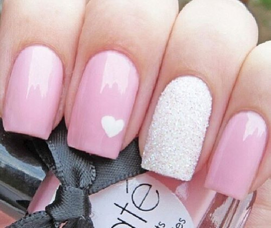 Caviar Nails Cute Pink Nail Art Designs wedding 2016