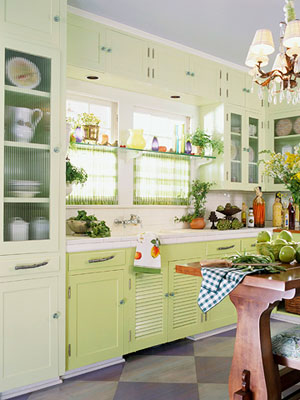Green Kitchen Design on Yellow Kitchen  Green Kitchen Design Ideas