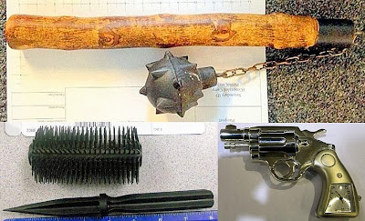 (Top to Bottom - Left to Right) Mace (MDW), Brush Dagger (AZA), Peplica Clock Revolver (SEA)